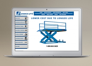 Advance Lifts - website development,